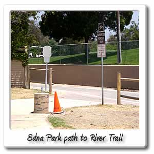 Edna park path to river trail