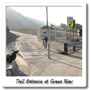 Bicycle Trail entrance at Green River