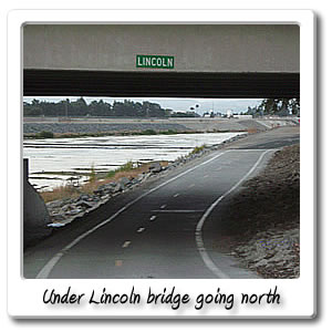 under lincoln bridge going north