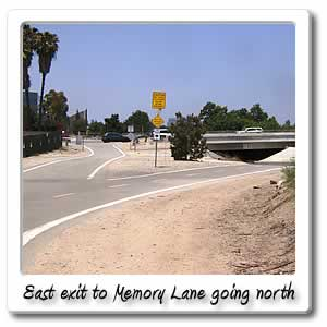 east exit to memory lane when going north