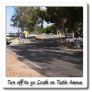 turn off to go south on tustin avenue