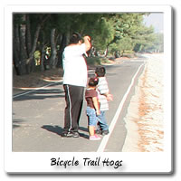 Improperly supervised children on the bike trail