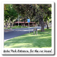 Car entrance to Yorba Park